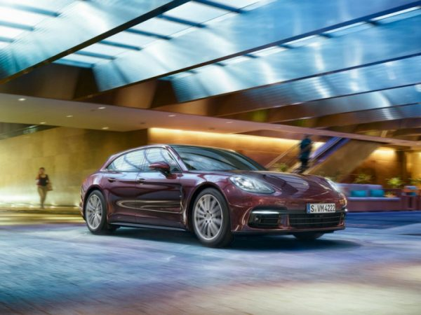 2018 Porsche Panamera in parking garage