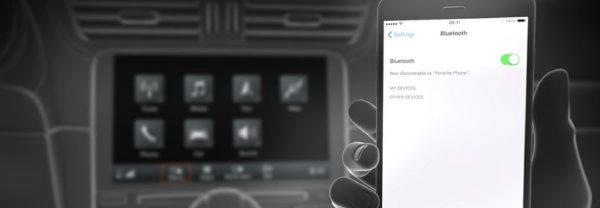 Hand accessing Bluetooth via phone
